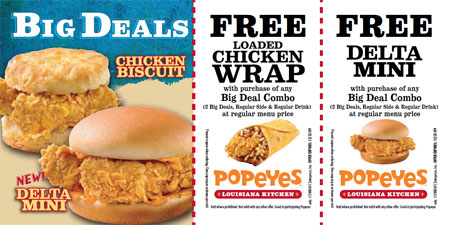picture relating to Popeyes Printable Coupons referred to as Cost-free printable coupon codes for popeyes fowl /