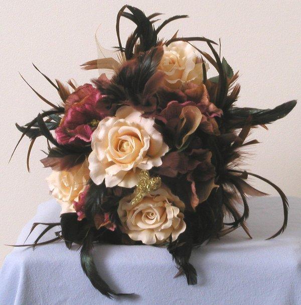 Silk Flower Wedding Bouquets: Wedding Flowers: Silk Wedding Flowers