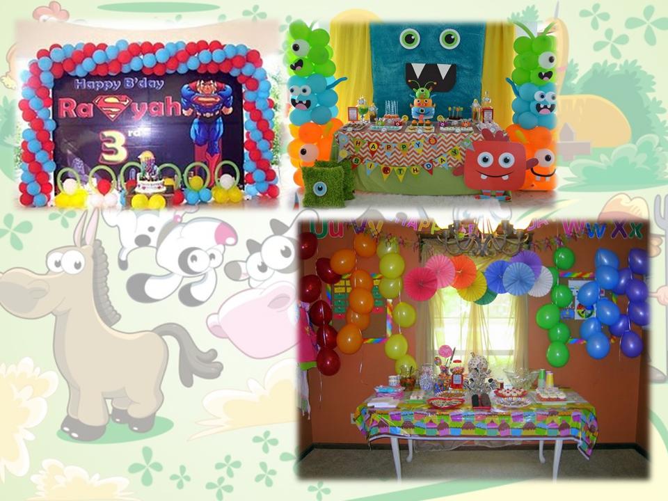Dekorasi Acara Ulang Tahun Anak Balon Cewek