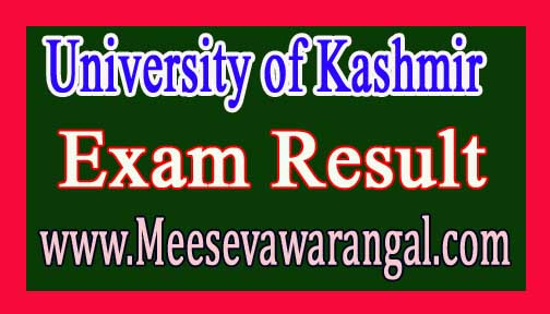 University of Kashmir B.A/ B.Sc / B.Com Ist Sem Dec 2015 Exam Results