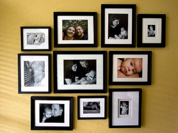 Family photo frame with the same frame