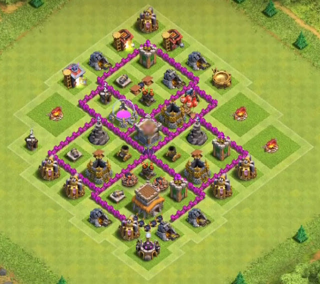 Base Town Hall 6 Clash of Clans Farming