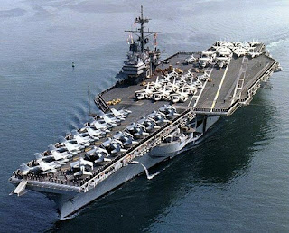 The U.S. Navy built four Forrestle class aircraft carriers in the 1950s. The first ship was commissioned in 1955 and last discommissioned in 1998. All four ships have been struck from the Naval Vessel Register. One ship, a former Ranger, donated as a museum ship as of July 2017. Two more ships have been dismantled, and a the fourth ship is scrapping underway in Brownsville, TX.
