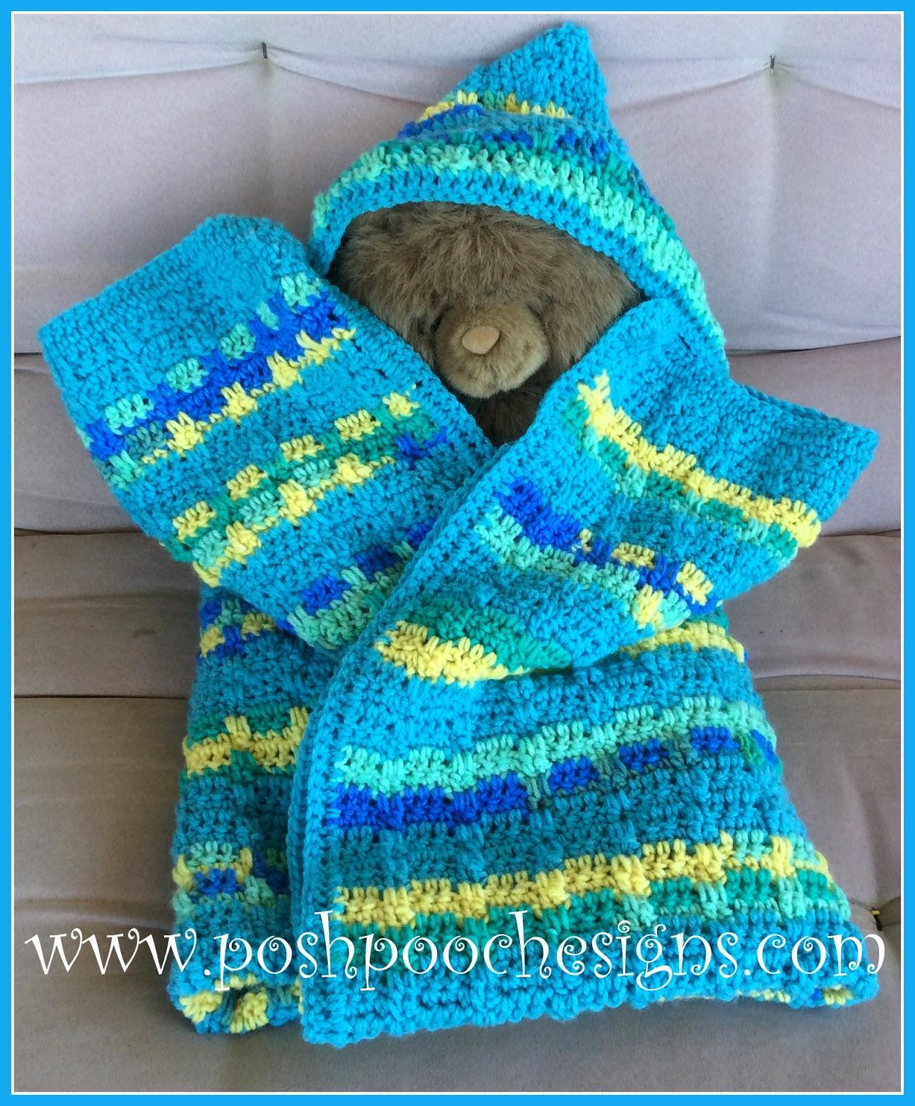 Posh Pooch Designs Dog Clothes Bunny Hugs Hooded Baby Blanket