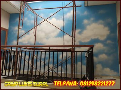 Gambar awan di tembok