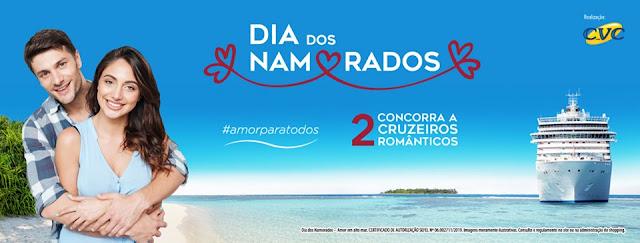Promoção de Dia dos Namorados do Passeio Shopping vai sortear 2 cruzeiros românticos all inclusive