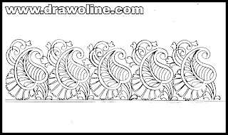Embroidery border images(new 2020), border embroidery designs drawings on paper.