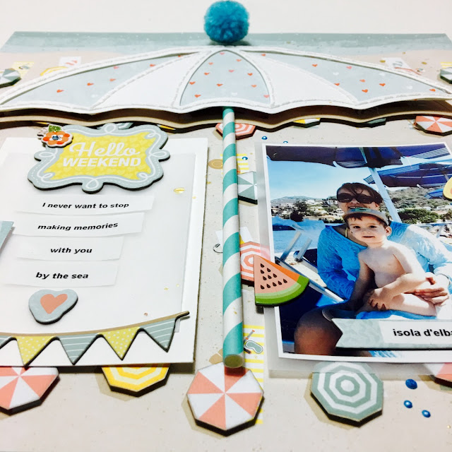 With You Scrapbook Page by Angela Tombari using BoBunny Weekend Adventure Collection
