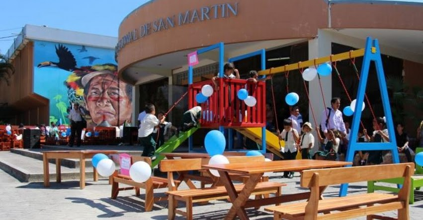 DRE San Martín entrega a colegios 370 muebles elaborados con madera incautada