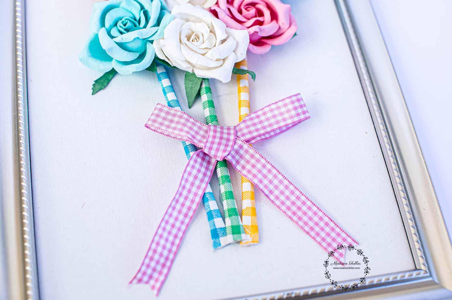 DIY Framed Bouquet Step6