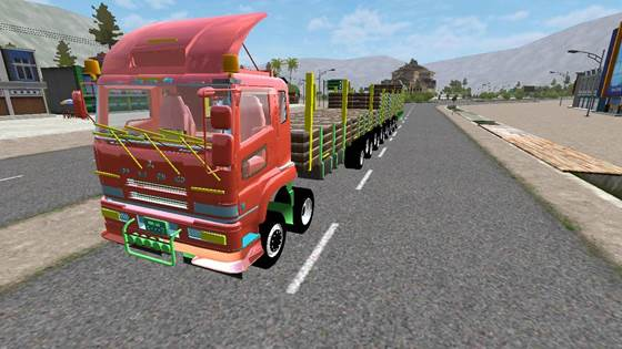 Mod Truck Fuso 20 Ban Super Long Chassis