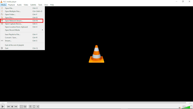 open network stream in VLC