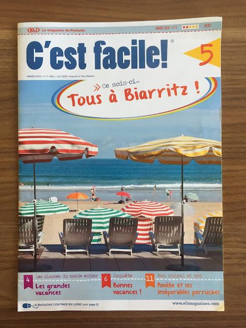 """""""C'est facile!"""" - okładka czasopisma - Francuski przy kawie"""