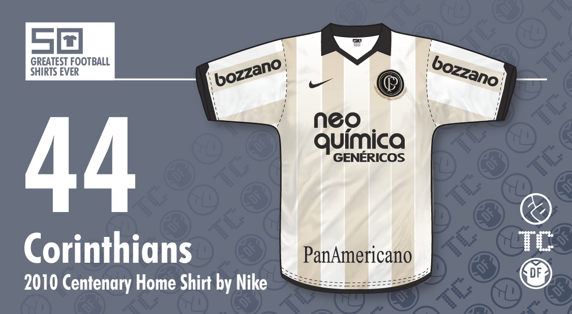 a44ccb8b85e 50GFSE] #44 - Corinthians Centenary Home Shirt 2010 by Nike ~ The ...