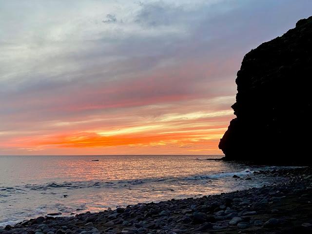 Beach sunset near Tasartico, Gran Canaria, Spain
