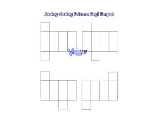 Contoh Gambar Jaring-Jaring Prisma Segi Empat