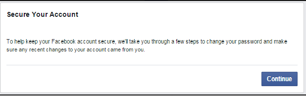 tela de recuperação conta bloqueada facebook