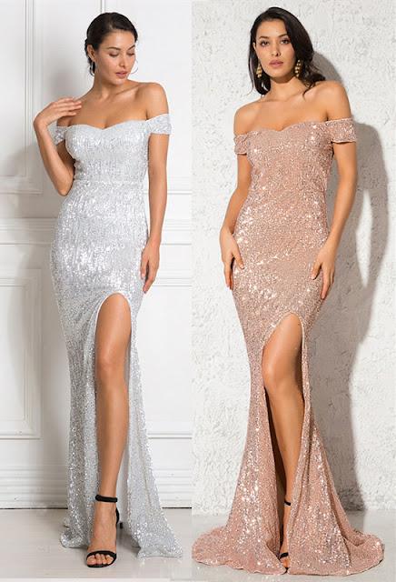 sequins mermaid prom dress