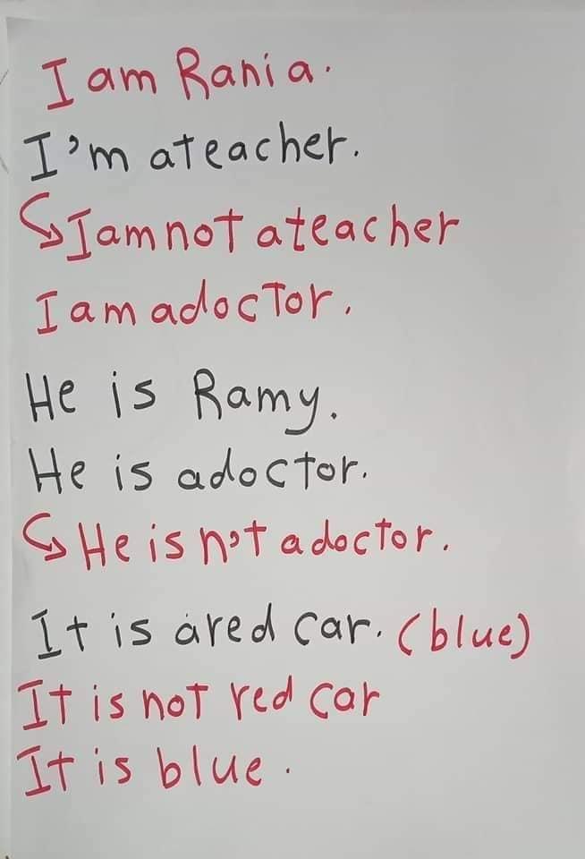اساسيات جرامر - الضمائر الاساسيه في اللغه الانجليزيه واستخدام verb to be 2