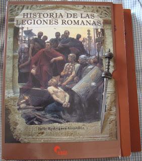 Portada del libro Historia de las legiones romanas, de Julio Rodríguez González