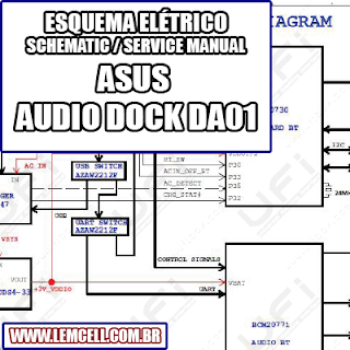 Esquema Elétrico ASUS ZenPad 10 Audio Dock DA01 Manual de Serviço   Service Manual schematic Diagram ASUS ZenPad 10 Audio Dock DA01      Esquematico ASUS ZenPad 10 Audio Dock DA01