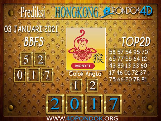 Prediksi Togel HONGKONG PONDOK4D 03 JANUARI 2021