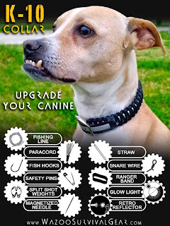 Wazoo Survival Gear: K-10 Dog Collar