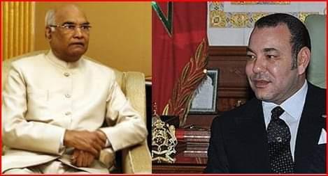 جلالة الملك محمد السادس نصره الله يعبر عن ارتياحه للمستوى الرفيع للعلاقات المغربية الهندية