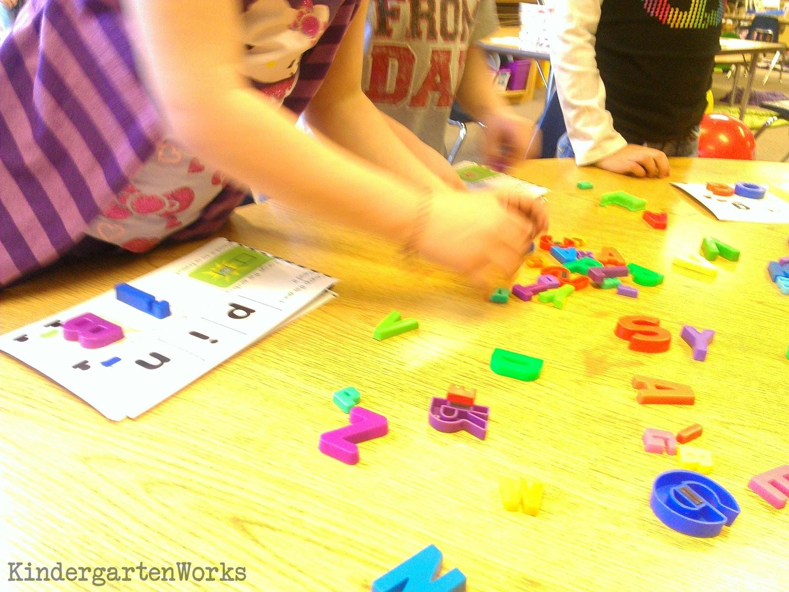 Kindergarten Word Work Manipulative Ideas