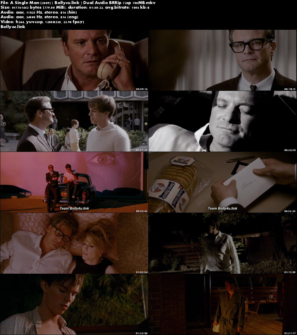 A Single Man 2009 BRRip 300MB Hindi Dual Audio 480p Download