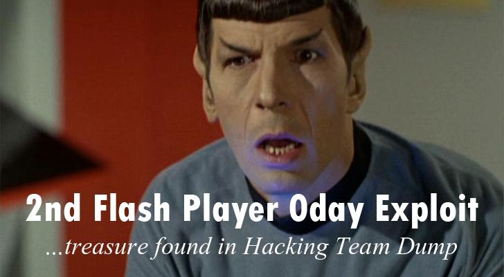 Second Flash Player Zero-day Exploit found in 'Hacking Team' Dump