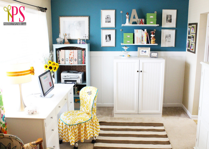 Craft Room Wall Decor: Sewing Room/Home Office Reveal