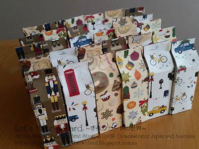 Mini Milk Carton with Christmas Around the World Satomi Wellard-Independent Stampin'Up! Demonstrator in Japan and Australia, #su, #stampinup, #cardmaking, #papercrafting, #rubberstamping, #stampinuponlineorder, #craftonlinestore, #papercrafting, #minimilkcarton, #casingsamhamond #スタンピン #スタンピンアップ #スタンピンアップ公認デモンストレーター #ウェラード里美 #手作りカード #スタンプ #カードメーキング #ペーパークラフト, #ミニミルクカートン、#プチギフト #ギフトラッピング #クリスマスプレゼント