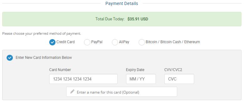 Điền thông tin để thanh toán