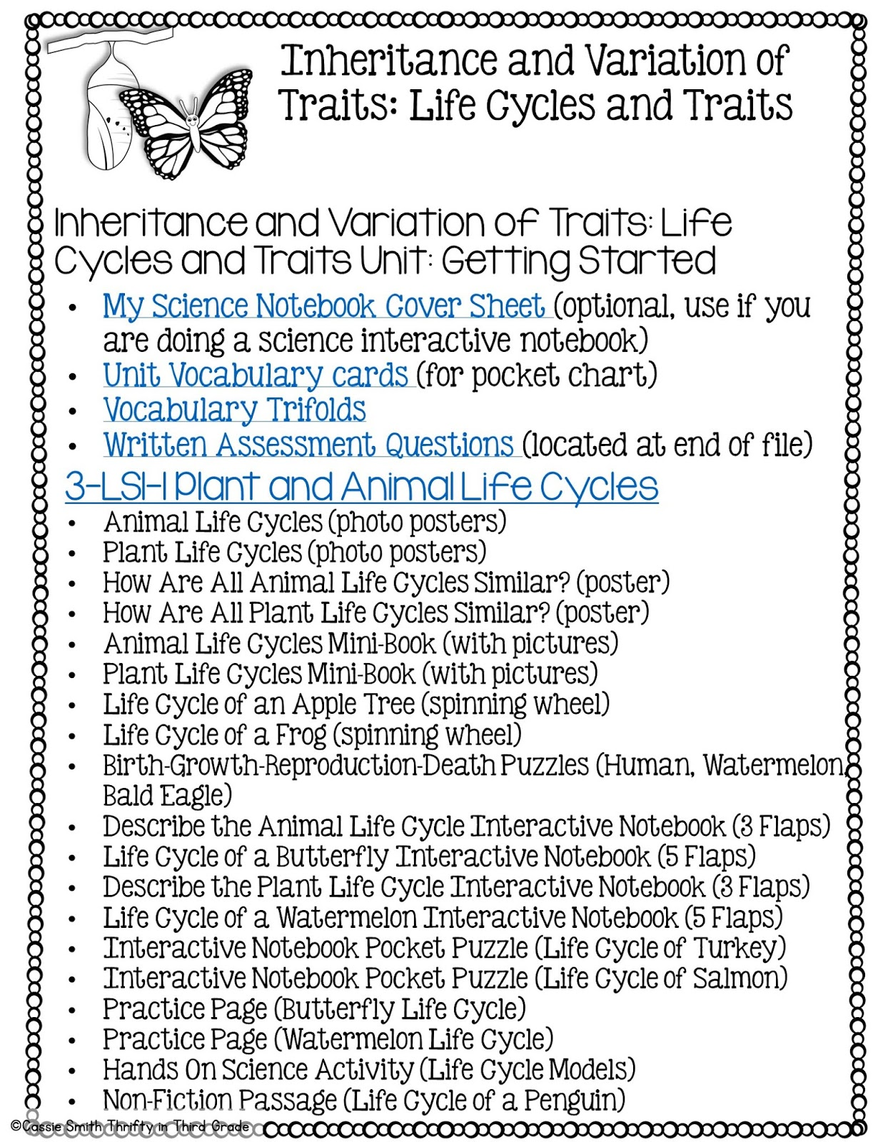 Inheritance And Variations Of Traits Life Cycles And