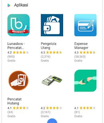 Aplikasi pencatat hutang terbaik
