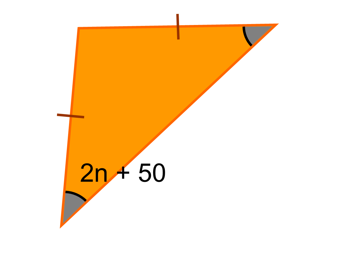 how to find angles in isosceles triangle