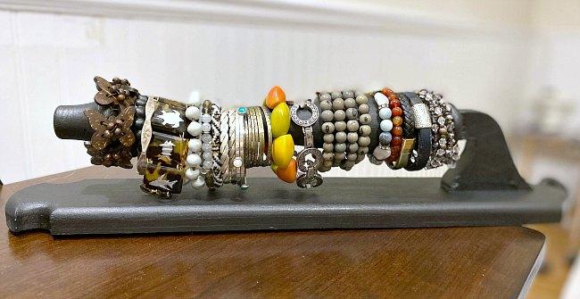 DIY Repurposed Chair leg Bracelet and Jewelry Organization