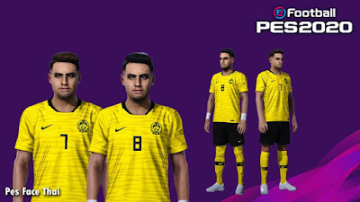 PES 2020 Faces Aidil Zafuan and Zaquan Adha by PESFaceThai