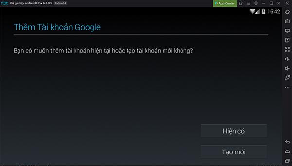 Cách đăng nhập Ch Play - Google Play Store trên giả lập Nox App Player 1