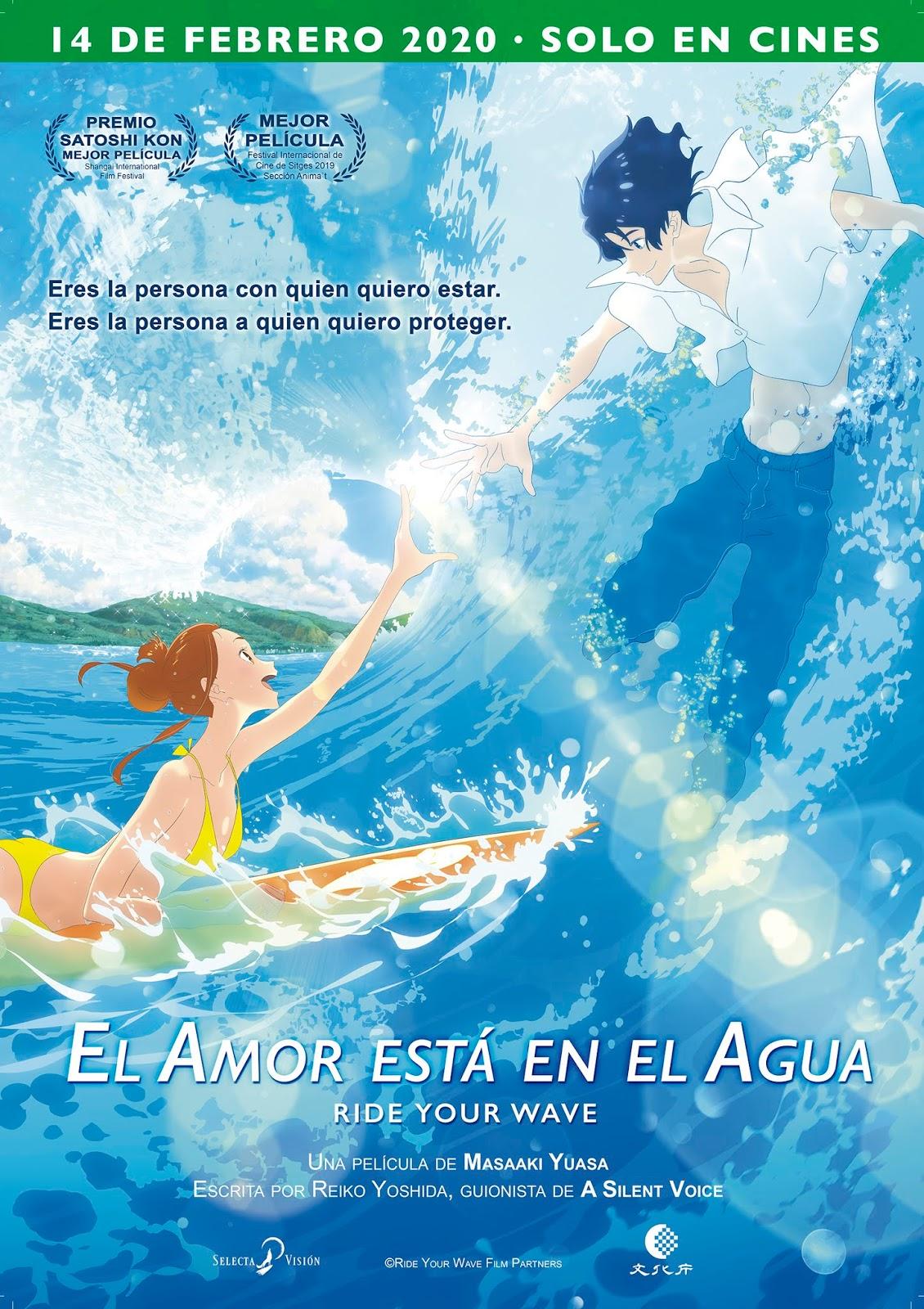 El amor está en el agua (Kimi to, Nami ni Noretara - Ride Your Wave) - Masaaki Yuasa - Selecta Visión