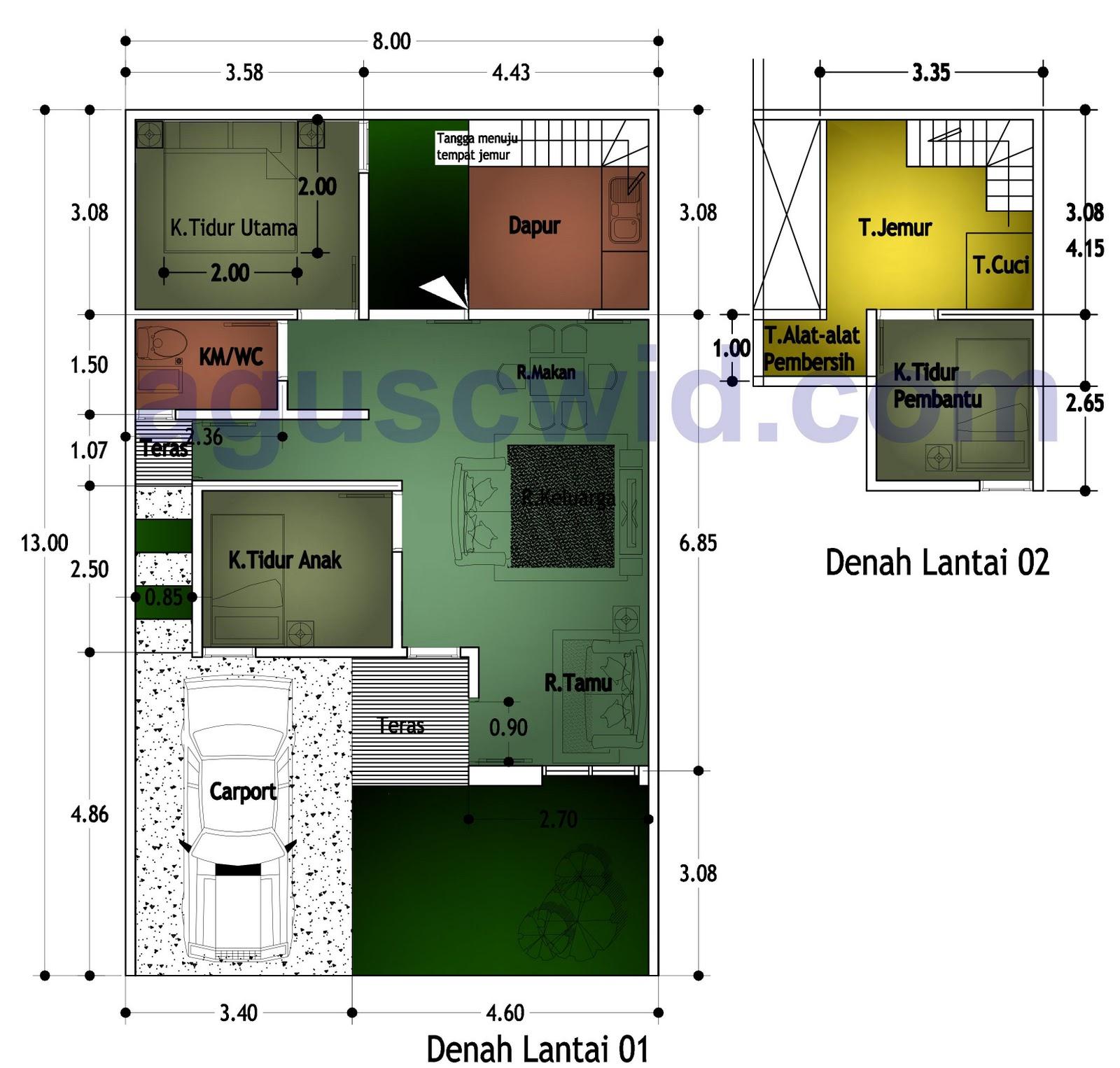 Layout Gambar Teknik Desain Sederhana