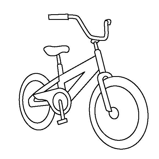 Hình tô màu xe đạp cho bé trai