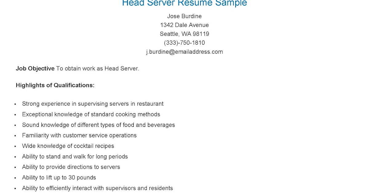 Best Server Resume Example | Livecareer. Sql Server Resume Sample