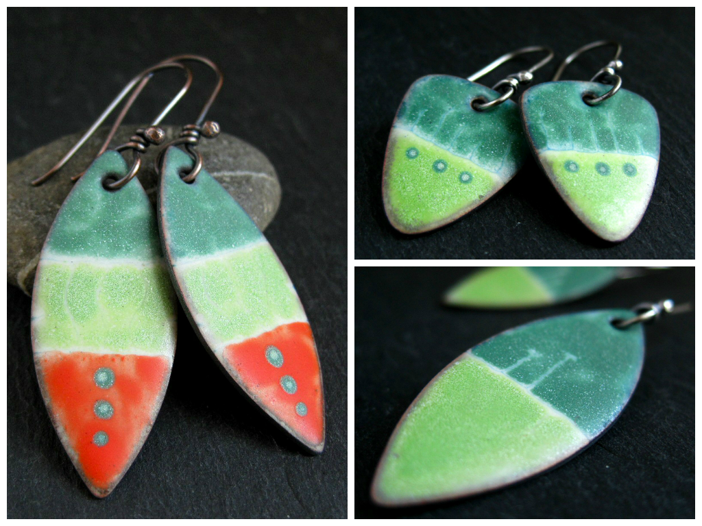 liquid enamel earrings