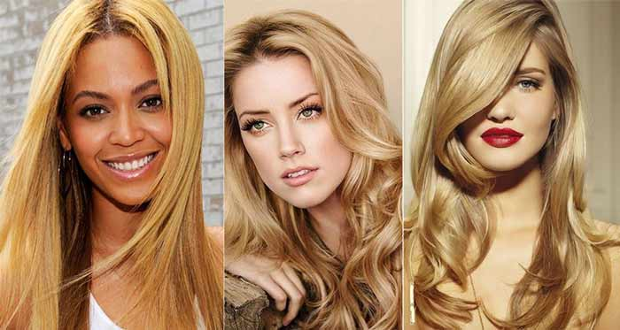 celebrities with golden blonde hair color dye