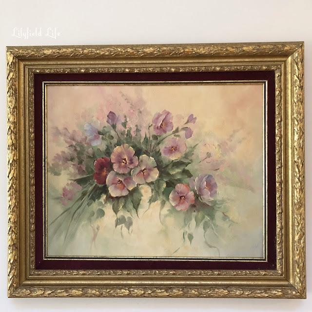 vintage painting flowers