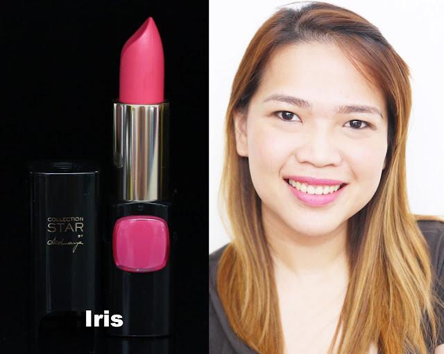 a photo of L'Oreal Color Riche Collection Star Velvet Pinks in Iris