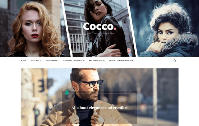 Cocco Stylish Blogger Teması