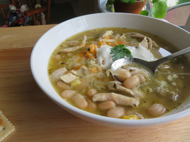 White Chicken Chili for Two